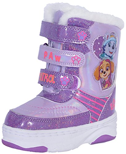 Josmo Paw Patrol Girl's Snow Boots with Velcro Straps Closure (Toddler, Little Kid)
