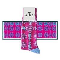 Allende MX Par de Calcetines de diseño 'Ximéri' artesanal mexicano unisex maquilado en Puebla