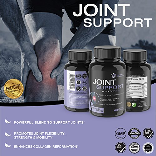 Joint Support Complex Supplement – 1500mg Glucosamine for Maximum Joint Relief against Aches, Pains, Soreness & Inflammation – Bosewellia, Turmeric, MSM - 90 Veggie Caps w/ BioPerine® by Vital Formulas Labs (Image #3)