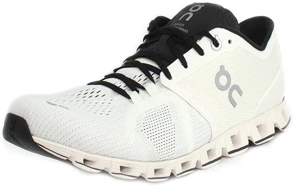 On Running Mens Cloud X Textile Synthetic Trainers 11, White Black