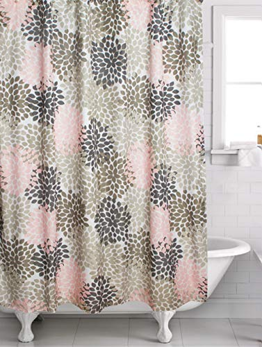 pink and grey shower curtain - 8