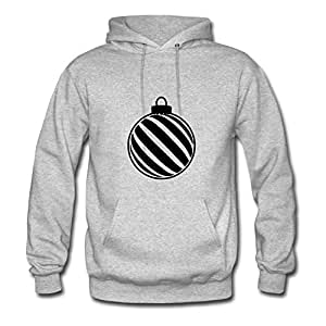 Women Unofficial Chic Sarahdiaz X-large Designed Cool Christmas Ornament Grey Hoody