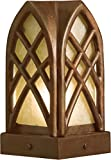 Kichler Lighting 15479TZT Cathedral Post Light 12-Volt Deck and Patio Light, Textured Tannery Bronze with Dark Citrine Glass