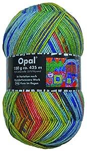 Opal Hundertwasser III Kuss im Regen 3200 - Lana para calcetines (100 g)