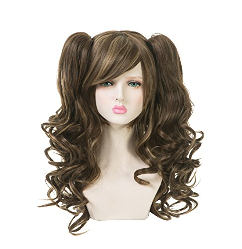 EDENKISS Women Cosplay lolita Clip on Two Ponytails Long Hair Replacement Full Head Wigs (Brown Beige MC139B 10/10B/18) ()