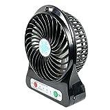Oscillating fan - cooling fan - LED Fan air Cooler Mini Operated Desk USB - desk fan - electric fan