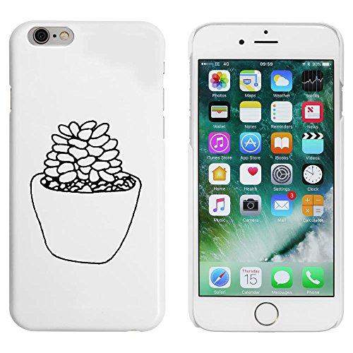 Blanc 'Plante Succulente' étui / housse pour iPhone 6 & 6s (MC00090739)