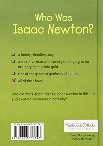 Who Was Isaac Newton? (Turtleback School & Library Binding Edition) by Turtleback (Image #1)