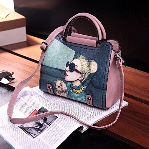LiXiang Paket weiblichen Neue müssen cross-Paket koreanischen Mode Damen Taschen Freizeit Stempel dann Schulter Tasche Tragetasche (26 cm breit, 12 cm lang, 22 cm) Kleine Toner