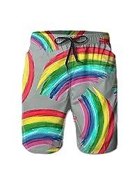 Rainbow Pride Gay Equal Rights Rainbow Men's Slim Shorts Outdoor Short With Pockets