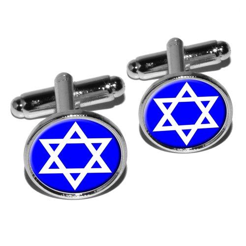 Star David Shield Jewish Cufflink