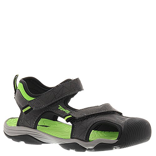 Teva Toachi 3 Kids Sport Sandal (Toddler/Little Kid/Big Kid), Dark Grey/Green, 2 M US Little Kid