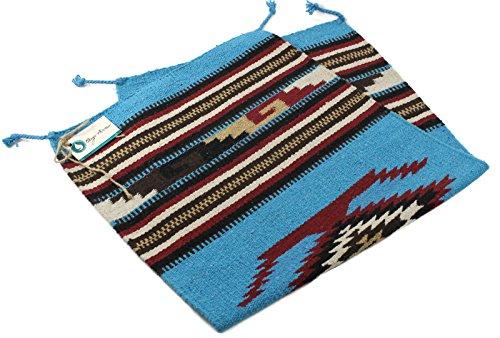 Onyx Arrow Southwest Décor Area Rug, 20 x 40 Inches, Eagle Eye Turquoise/Burgundy