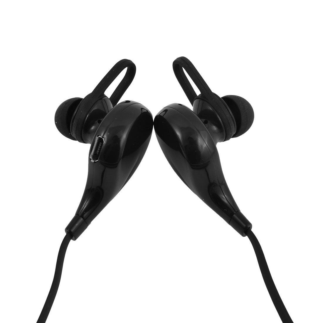 Amazon.com: eDealMax telefónicas Llamadas Manos libres Con cancelación de ruido auriculares Bluetooth Headset Negro w Cable USB: Electronics