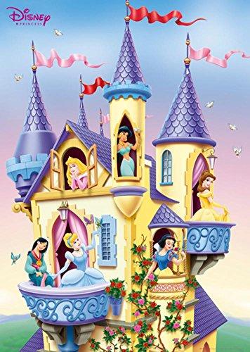 Disney Princesses in Castle Poster Print