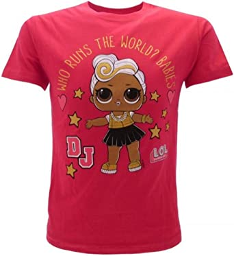 LOL Surprise! Camiseta Original de niña con Purpurina DJ Fucsia L.O.L.: Amazon.es: Ropa y accesorios