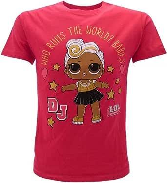 LOL Surprise! Camiseta Original de niña con Purpurina DJ Fucsia L.O.L.: Amazon.es: Ropa y accesorios