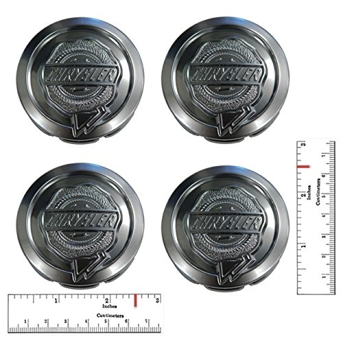 Set - Chrysler 2.5'' Center Cap - Chrome