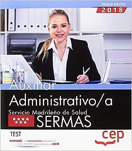 Auxiliar Administrativo/a. Servicio Madrileño De Salud (sermas). Test por Editorial Cep epub