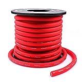 LEIGESAUDIO 10 Gauge Red OFC Power/Ground Wire,5M,16.4ft,99.9% Oxygen-Free Copper