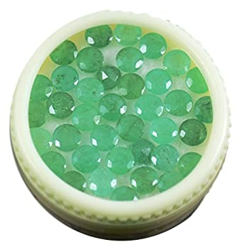 8fae5c8b805 Amazon.com  WHOLESALE 5 CTS OF NATURAL EMERALD ROUND 4MM 17PCS