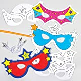 Super Hero Colour-In Masks (Pack Of 6) For Kids To Make & Decorate