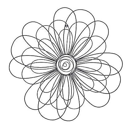 Amazon.com: Bellaa 23240 Metal Wall Art Sun Flower Decor 29\