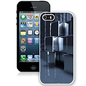 Beautiful Unique Designed iPhone 5S Phone Case With HD Abstract Cubes_White Phone Case