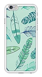 Colorful Funky Design Abstract Pattern Snap-On Cover Hard Plastic Case for iPhone 6 (White)