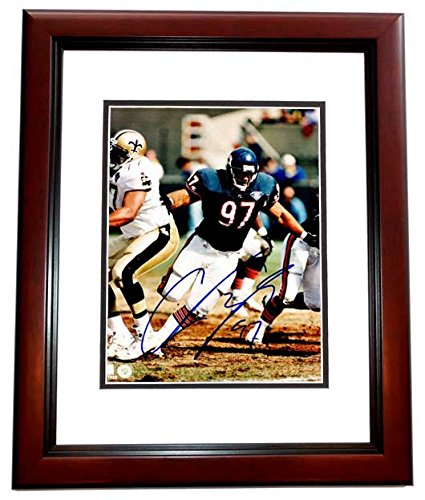 f0bb05cf9 Image Unavailable. Image not available for. Color  Chris Zorich Signed - Autographed  Chicago Bears 8x10 inch Photo MAHOGANY CUSTOM FRAME ...