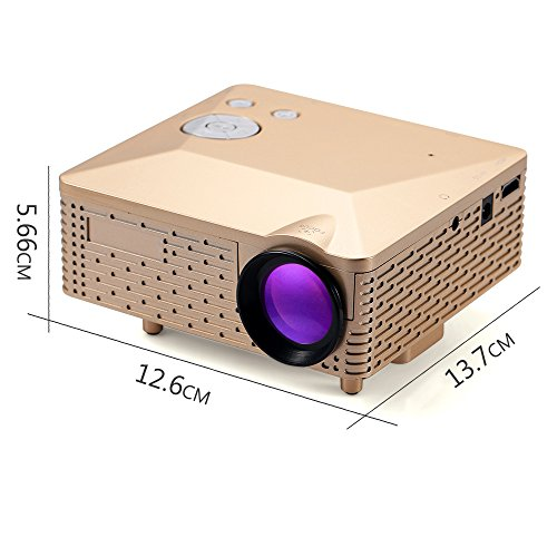 Best portable led projector bl18 led video projector for for Best portable projector for home theater