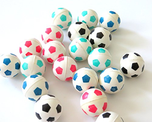 Edison Novelty 20 Soccer Super Bouncy Balls 27mm -