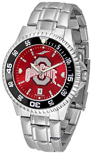 Ohio State Buckeyes OSU NCAA Mens Competitor Anochrome Watch by SunTime