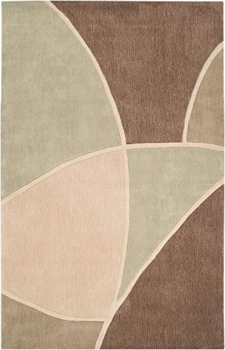 Cosmopolitan COS8893 Area Rug in Olive, Beige, Mocha, Chocolate, -
