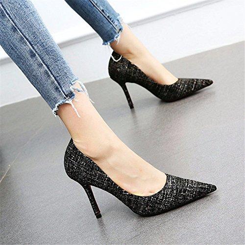 de Mujer Tacones B Aguja Sexy Solteros Moda YMFIE de Zapatos Zapatos Temperamento Trabajo de 65qEUpB