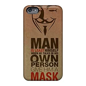 Anti-Scratch Cell-phone Hard Covers For Apple Iphone 6 With Customized Stylish Anonymous Pictures TimeaJoyce
