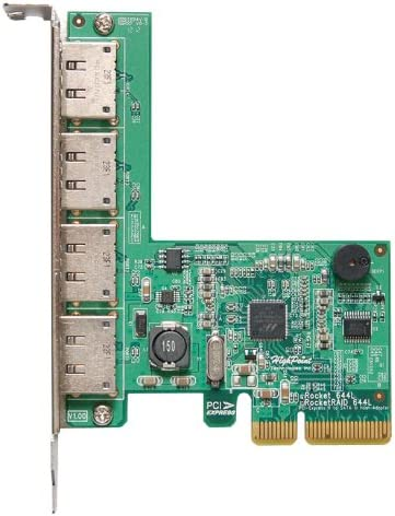HighPoint Rocket 644L Lite 4X External Port eSATA 6Gb/s HDD and SSD PCIe Controller