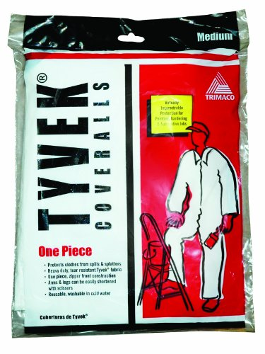 Trimaco Painter's Tyvek HD Heavy-Duty Coveralls, White, (Ace White Painters)
