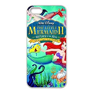 iPhone 5 5s Cell Phone Case White Little Mermaid II, The Return to the Sea atlas phone case adgh7000361