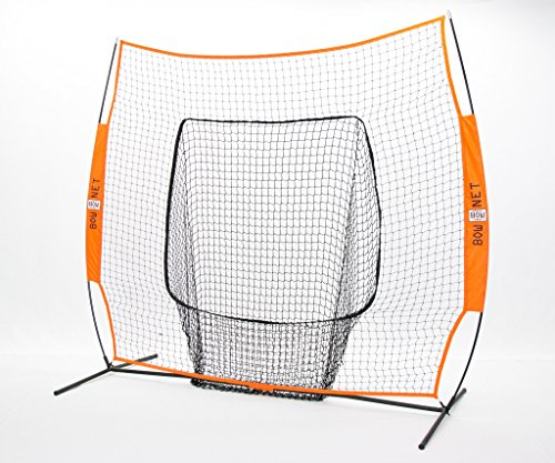 Bownet Big Mouth Colors 7' x 7' Training Sock Replacement Net, Orange (Net (Sock Net Replacement)