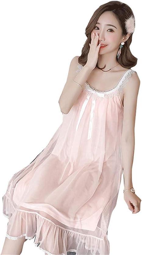 YXST CamisóN De Mujer Pijamas Camisas De Noche Largas Damas Ropa De Dormir Verano Loungewear: Amazon.es: Deportes y aire libre