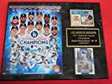 Dodgers 2017 National League Champions 2 Card Collector Plaque w/8x10 Photo