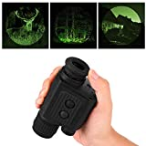 Lixada Visionking 1x20 Digital Night Vision Viewer Monocular Outdoor Portable Lightweight Infrared IR Illuminator Night Vision Device Scope for Hunting Camping