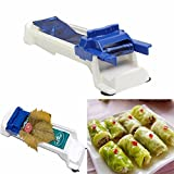 New Creative Durable Stuffed Grape Cabbage Leaf Rolling Tools Gadget Roller Machine for Turkish Dolma Sushi Kitchen Bar Plastic (White/Blue)