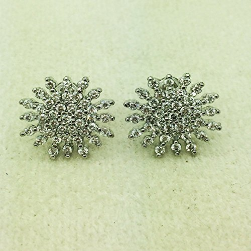 Twinkle 18k Ring (New York Design Twinkle Crystal Star Stud Earrings 18K White Gold)