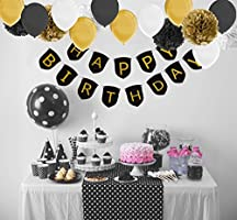 Black Gold Balloons And Party Supplies Loading Images