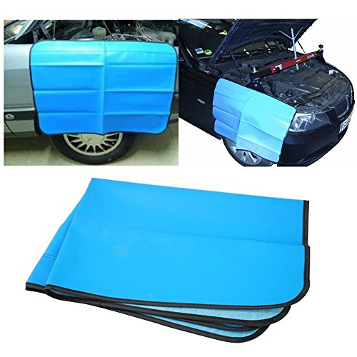 Magnetic Car Fender Cover – Car and Truck Work Mat Protector for Mechanics – Paintwork Protect Fender Wing Cover – Heavy Duty Premium 32″ x 24″ Mat