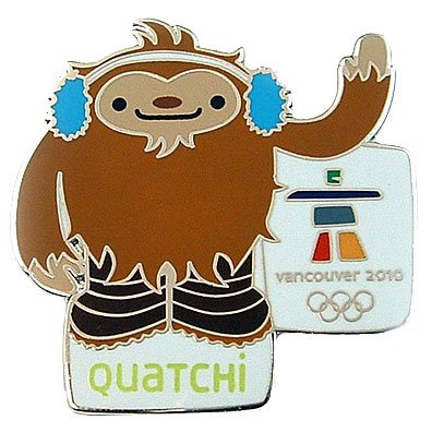 2010 Vancouver Olympic Pins - Vancouver 2010 Olympics - Quatchi Mascot Pin