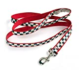 MacKenzie-Childs Courtly Check/Red Pet Lead - Large