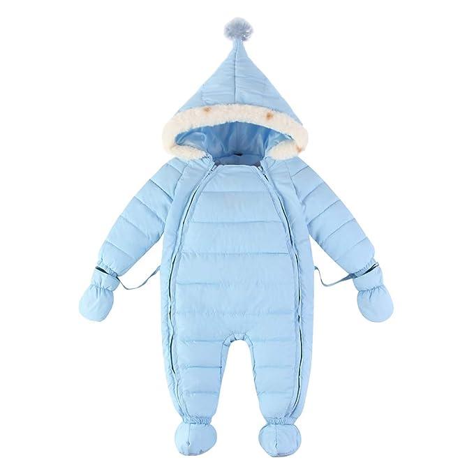 Amazon.com: Conjunto de traje de nieve con capucha para bebé ...